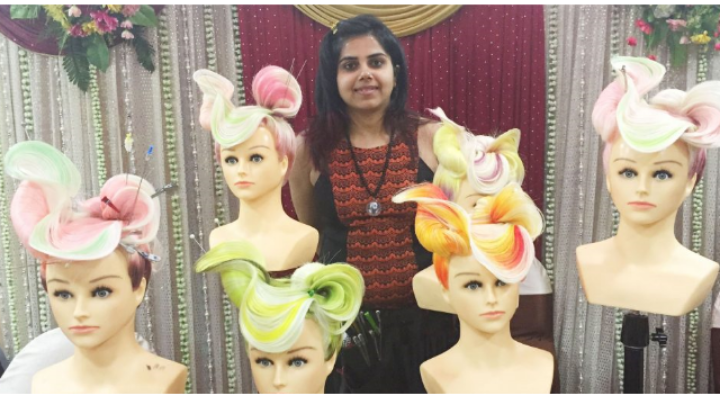 Different hairstyles on Mannequins