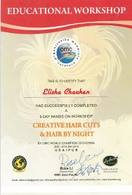 Certificate received by Elisha