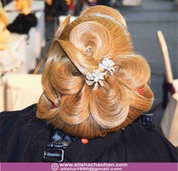 Assysmetrical Petal Bridal Style