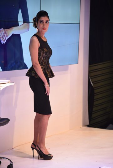 Bridal Hairstyle by Elisha chauhan at Fashion Show