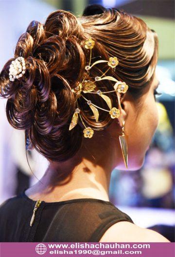 Bridal Hairstyle by Elisha Chauhan at Fashion SHow in Mumbai_India (4)