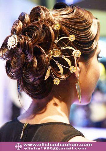 Bridal Hairstyle by Elisha Chauhan at Fashion SHow in Mumbai_India (5)