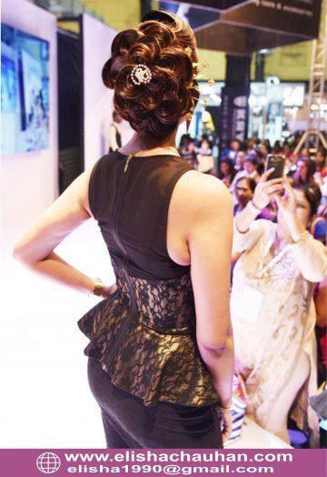 Bridal Hairstyle by Elisha Chauhan at Fashion SHow in Mumbai_India (6)