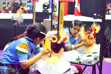 Candid during competition at world Cup