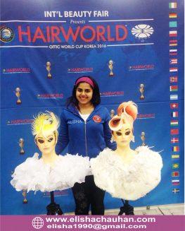 Elisha Chauhan representing India at World Cup 2016 held at Korea