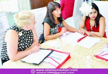 Elisha Chauhan working with Experts from UK(Runa McNamara and Laura)