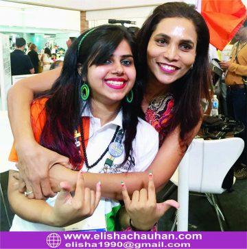 Elisha Chauhan with Indian delegates at Sao Paulo (4)