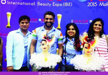 Elisha Chauhan with Team India Delegates at Asia Cup 2015 at Malaysia (2)