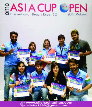 Elisha Chauhan with Team India winners at Asia Cup 2015 at Malaysia (1)