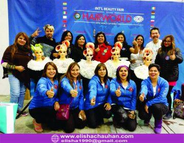 Elisha Chauhan with Team from India (1)