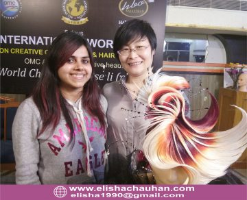 Elisha Chauhan with World Champion Rose Lee