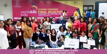 Elisha Chauhan with her Students at Worldskills India Competition