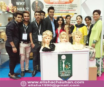 Elisha Chauhan with her Team at Exhibitions
