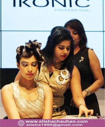 Elisha performing on stage in Mumbai India