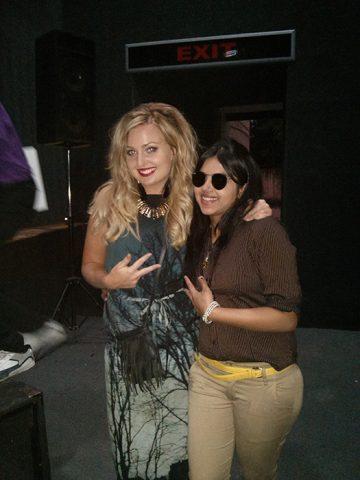 Elisha with International Trainer and friend Emma