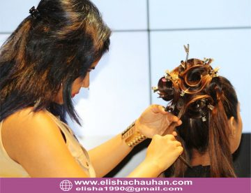 Elisha working on models on Stage (1)