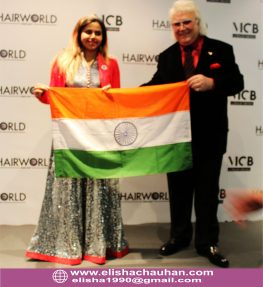 Indian Trainer ELisha Chauhan with OMC World President Mr.Fodera