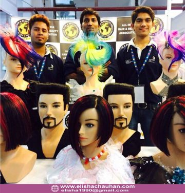 Student of Elisha Chauhan _ their work on mannequins