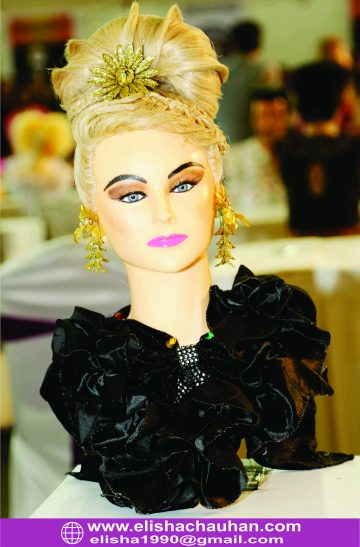 Western Bridal Hairstyle on Mannequin