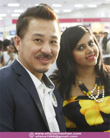 With Malaysian Hairdressing Association President Mr.Lim at AIHBA India Awards 2017