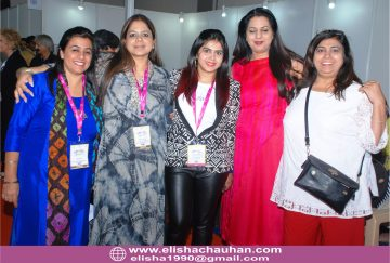 With team Beauty _ Wellness Skill Council at IndiaSkill