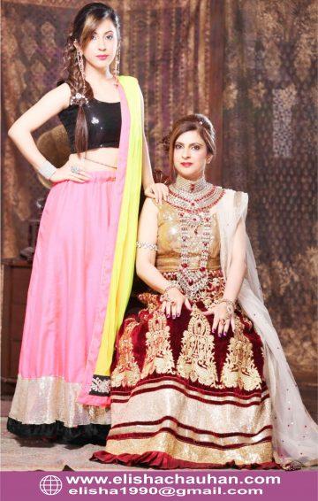 Work of ELisha Chauhan for Wedding Magazine Photoshoot