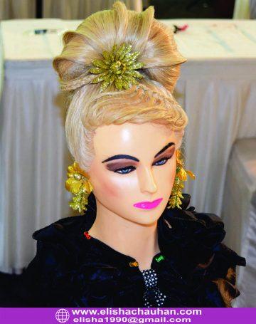 high fashion western bridal hairstyle